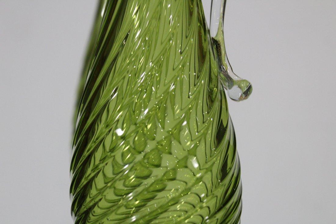 Pair BALBOA Green VENETIAN GLASS EWER PITCHERS - 4