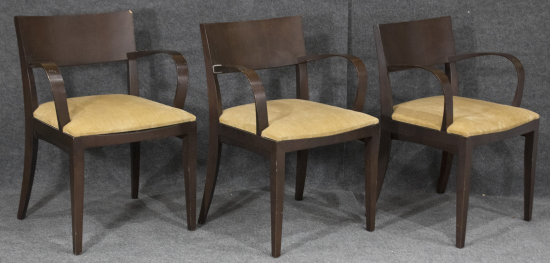 Jonathan Crinion KNOLL STUDIO 1999 Three [3] ARM CHAIRS