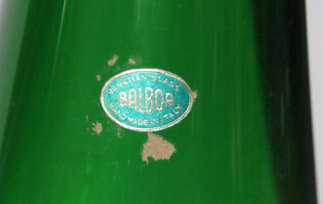 Pair BALBOA Green VENETIAN GLASS TALL VASES - 3