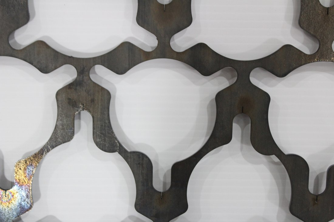 POLISHED STEEL INDUSTRIAL CUT OUT WALL HANGING - 3