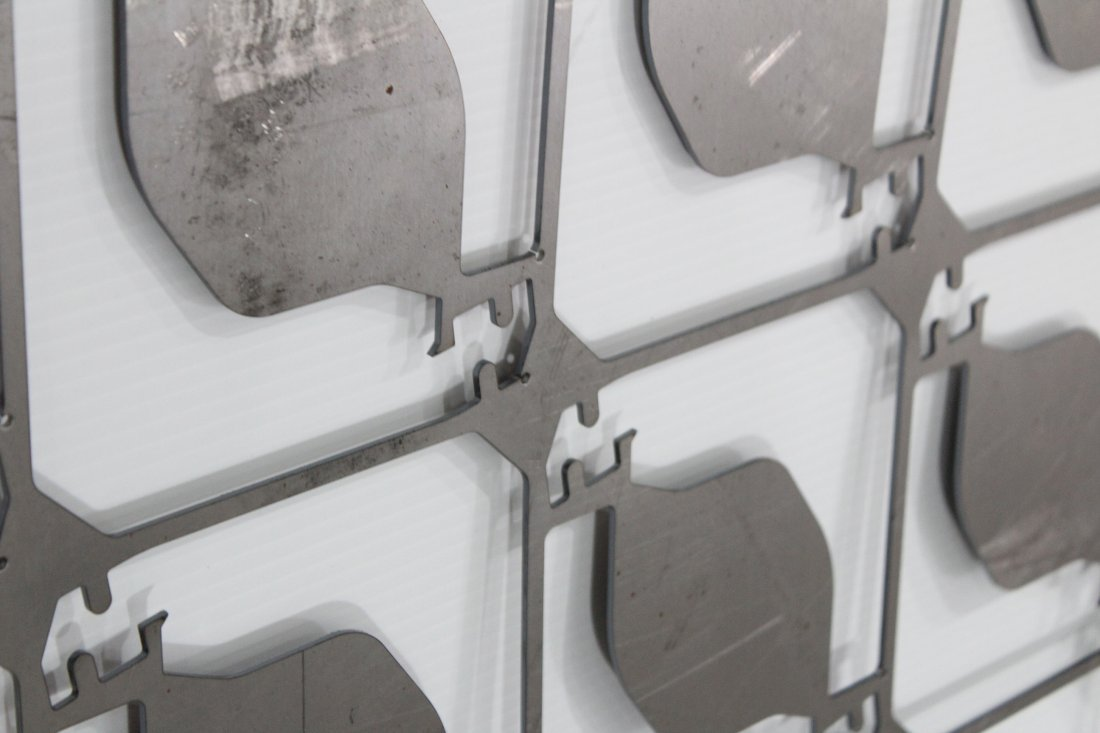 POLISHED STEEL INDUSTRIAL CUT OUT WALL HANGING - 2