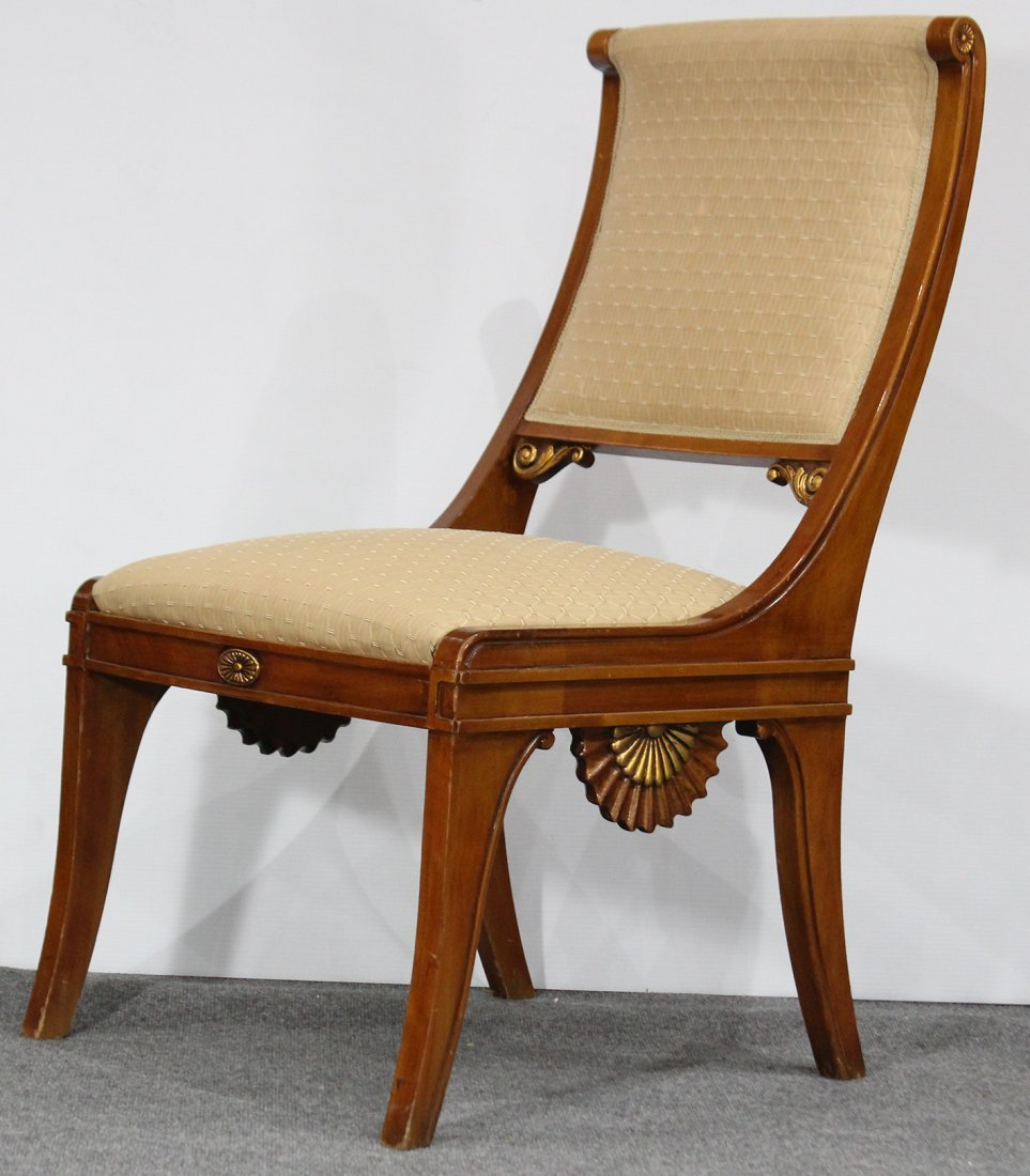 GREEK REVIVAL DESIGNER PARLOR CHAIR