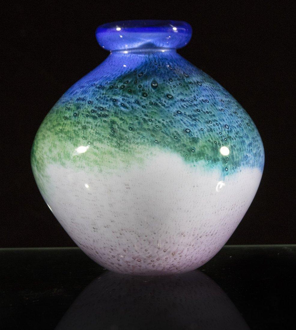 MID CENTURY MODERN STUDIO ART GLASS VASE