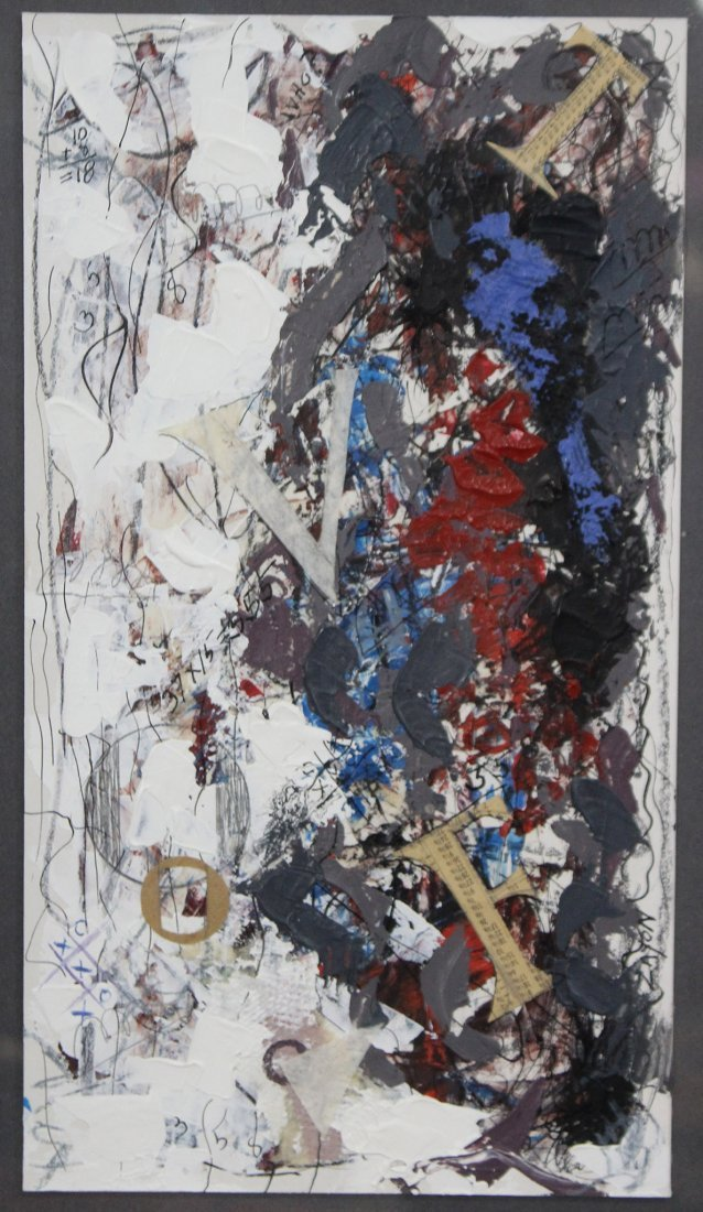 SEYMOUR ZAYON Mid Century Modern ABSTRACT COLLAGE - 2
