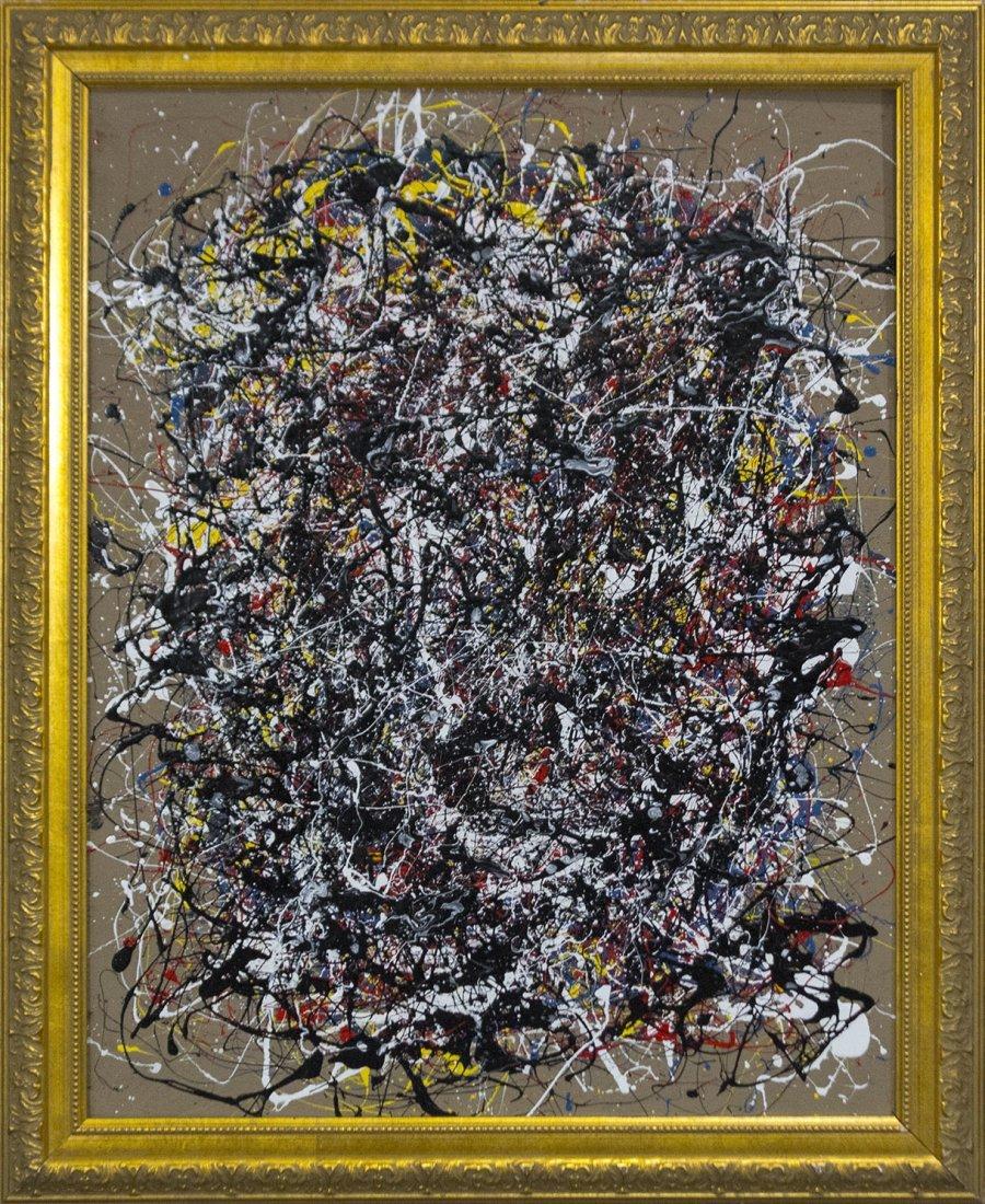 Mid-Century Modern Drip Art action painting Pollack