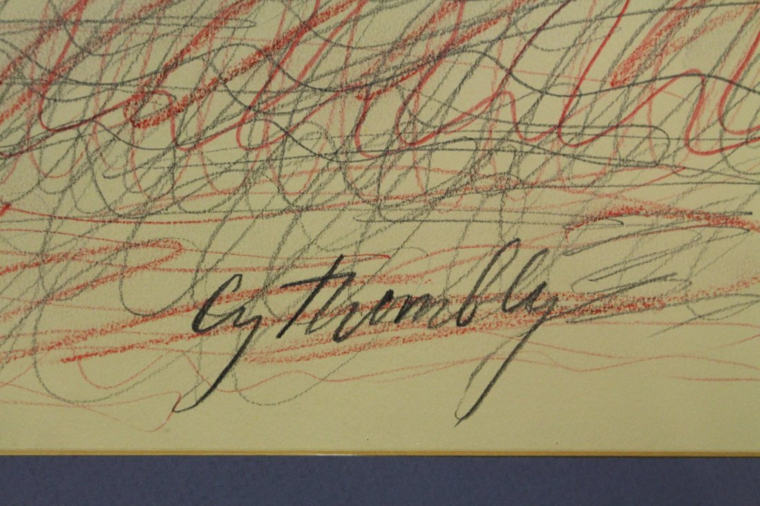 CY TWOMBLY  (1928 - 2011) Colored Graphite ABSTRACT - 3