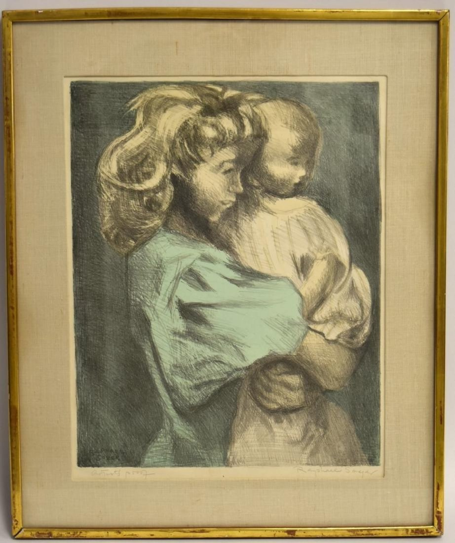 RAPHAEL SOYER 1899-1987 SISTERS ARTIST PROOF Signed