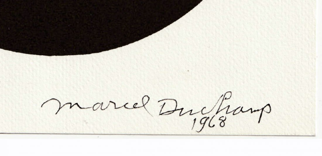 2 Signed MARCEL DUCHAMP 1968 SMS Shit Must Stop DECALS - 2