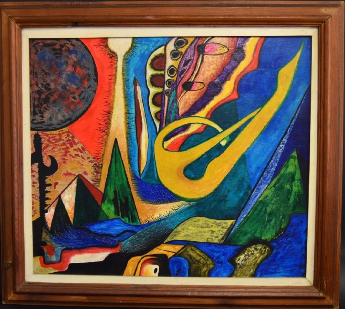 CUNEO LOPEZ Latin American SURREALIST ABSTRACT OIL