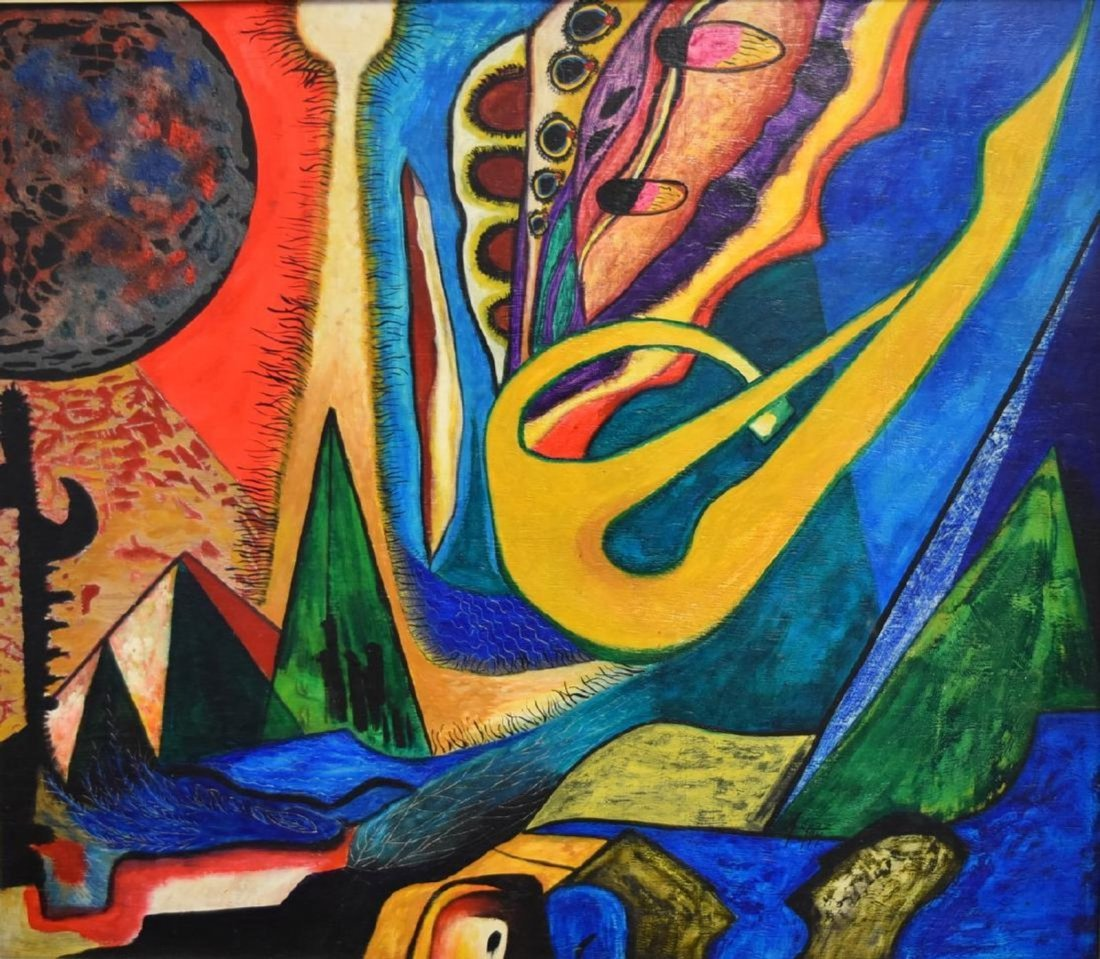 CUNEO LOPEZ Latin American SURREALIST ABSTRACT OIL - 2