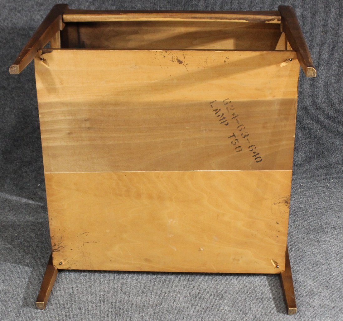 Mid-century danish modern occasional end table - 5