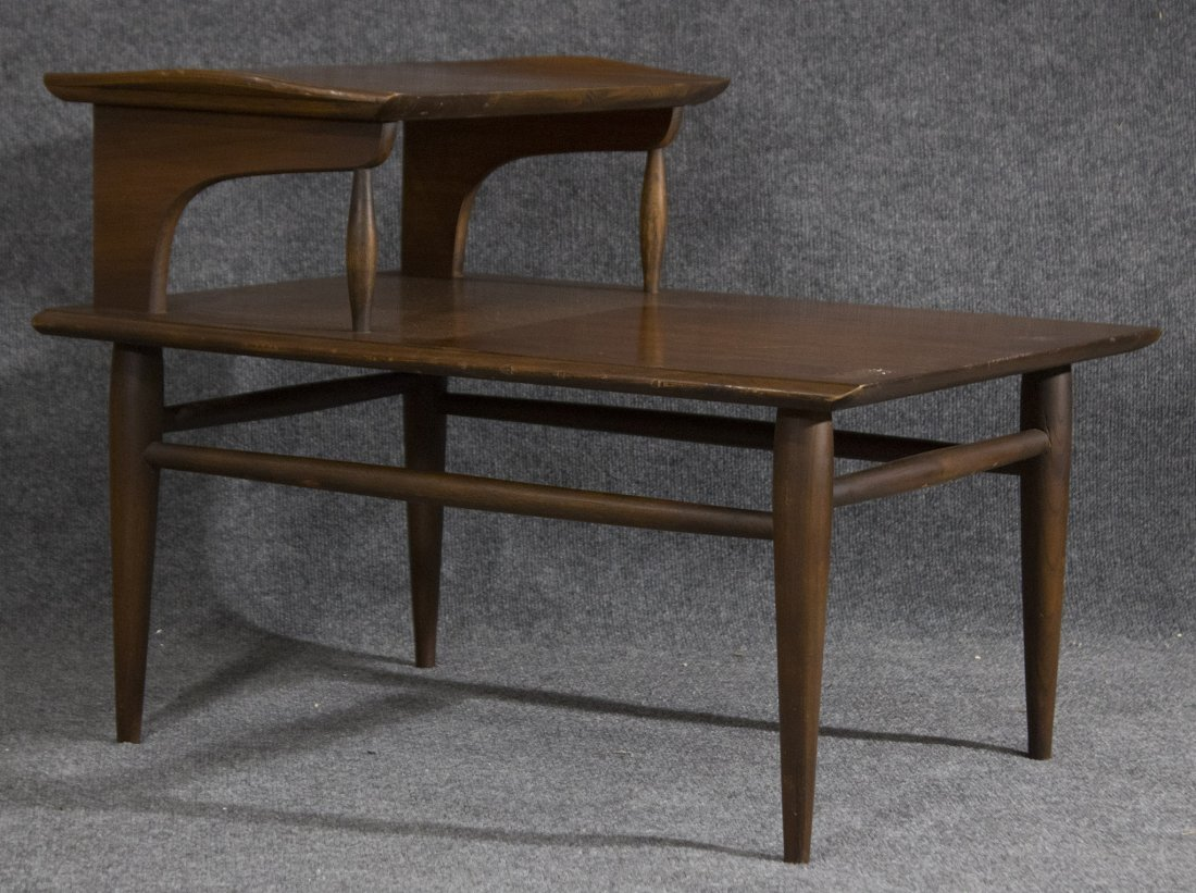 MId-century modern transitional step end table
