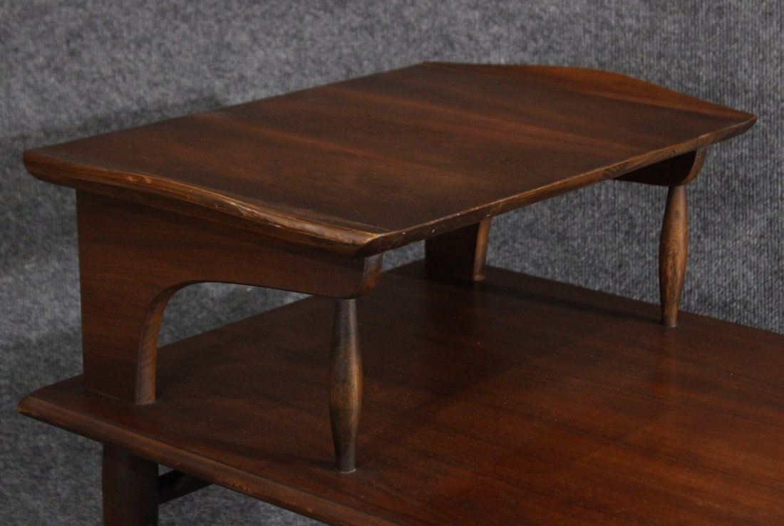 MId-century modern transitional step end table - 2