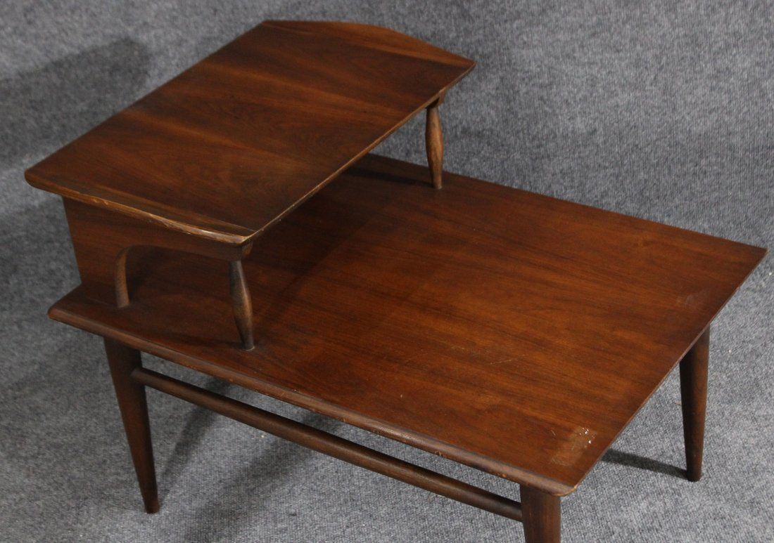 MId-century modern transitional step end table - 3