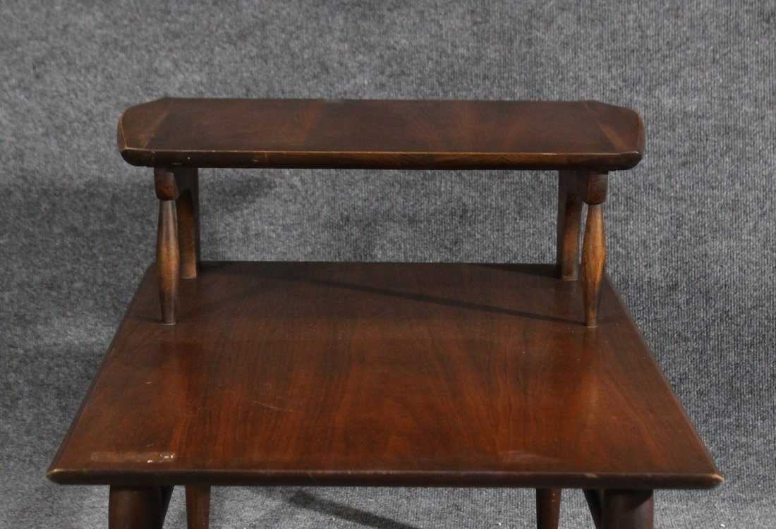 MId-century modern transitional step end table - 4