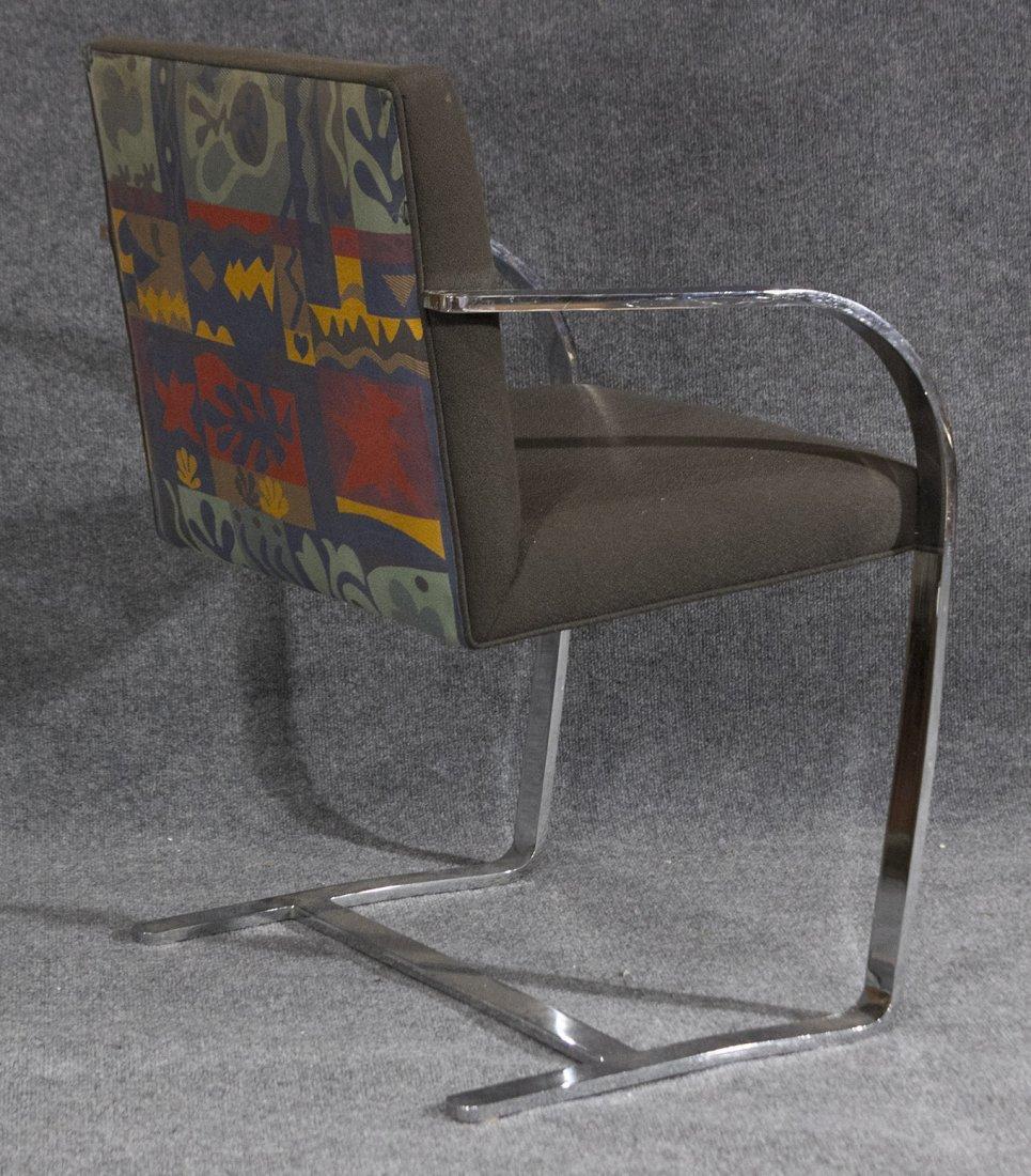 Mid-century mod milo baughman style flat chrome chair