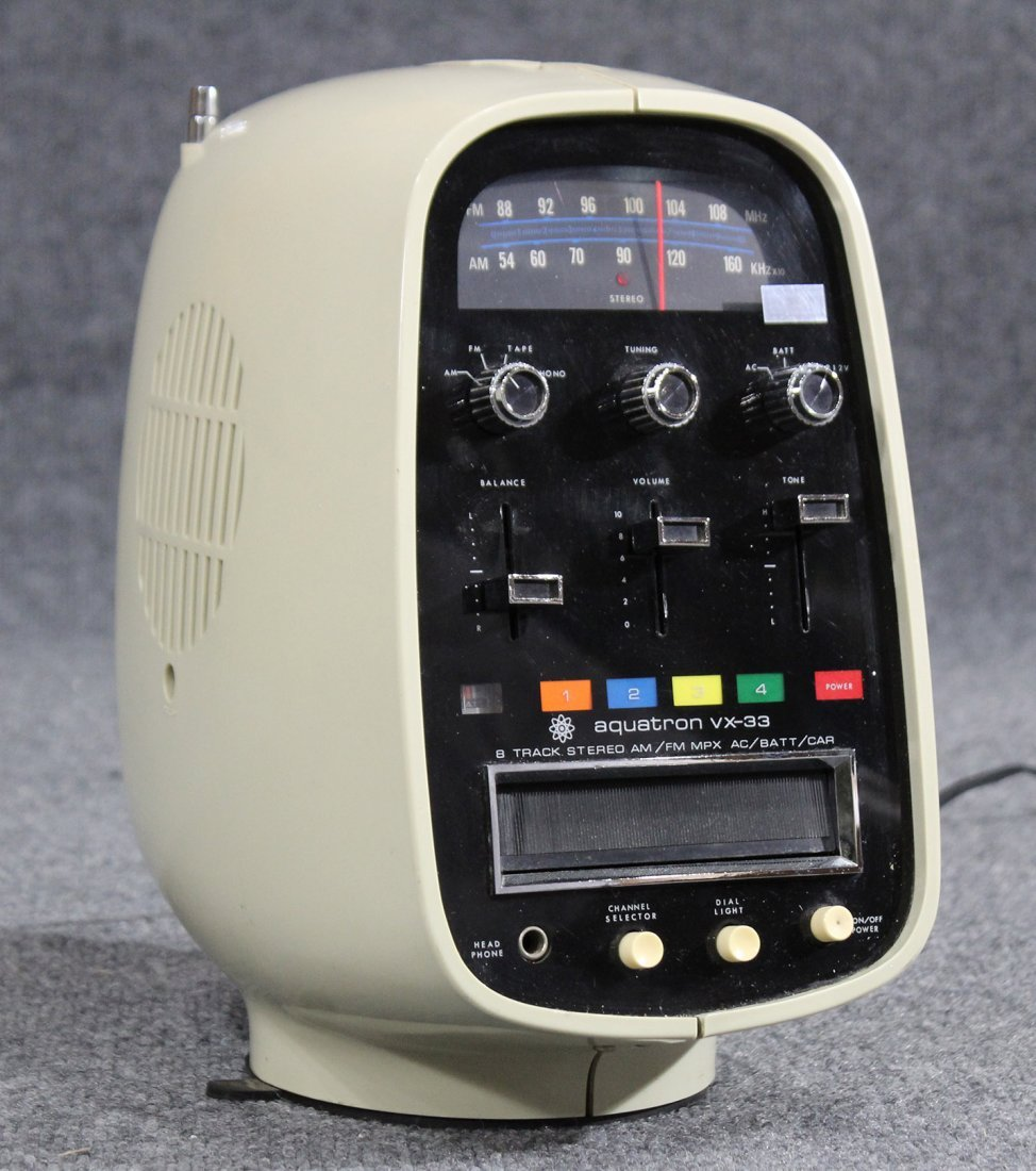 Aquatron vx-33 8 track stereo , vintage