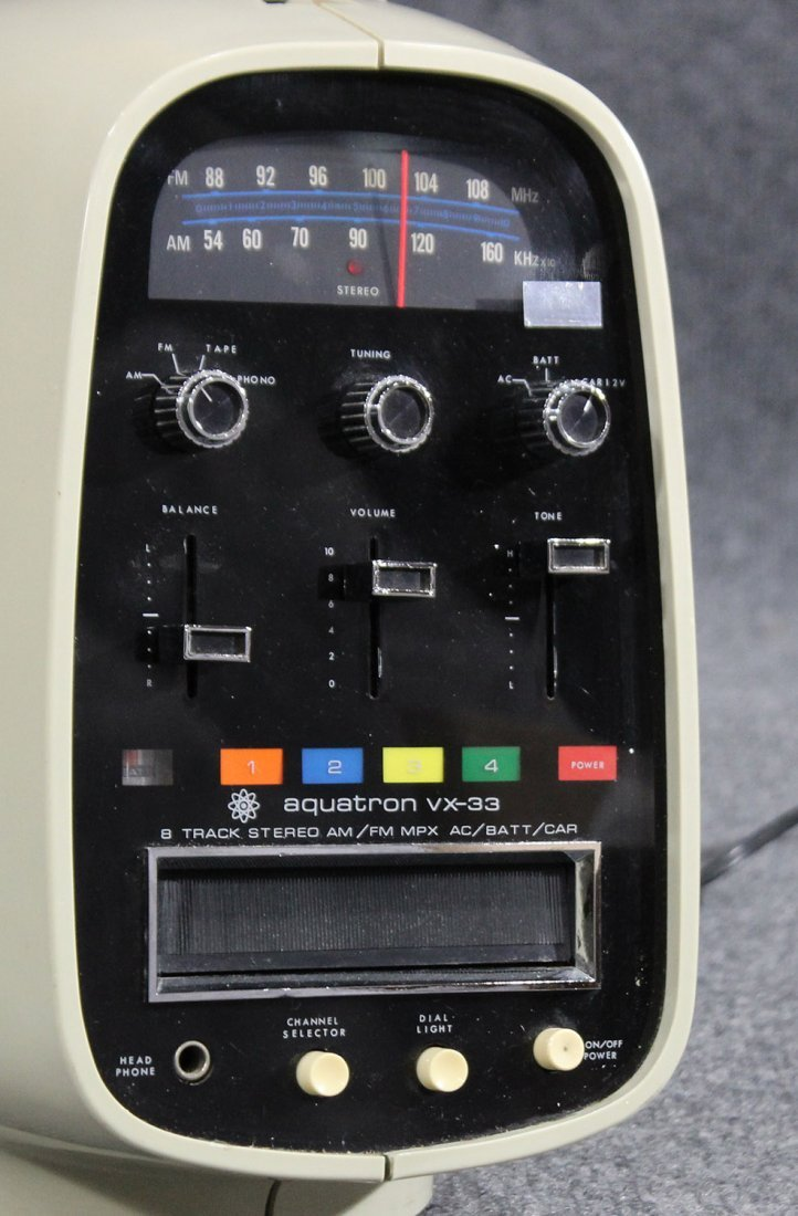 Aquatron vx-33 8 track stereo , vintage - 2