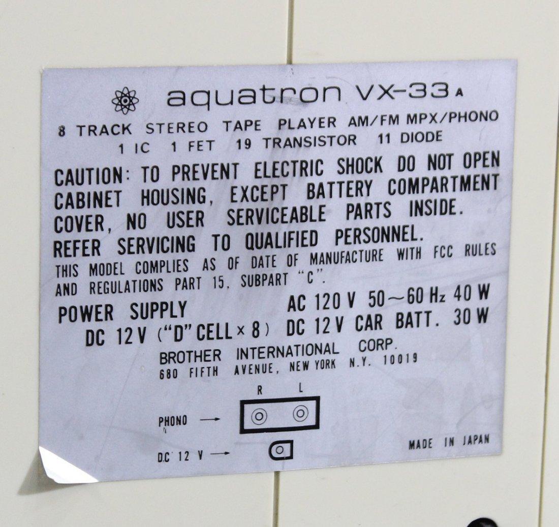 Aquatron vx-33 8 track stereo , vintage - 4