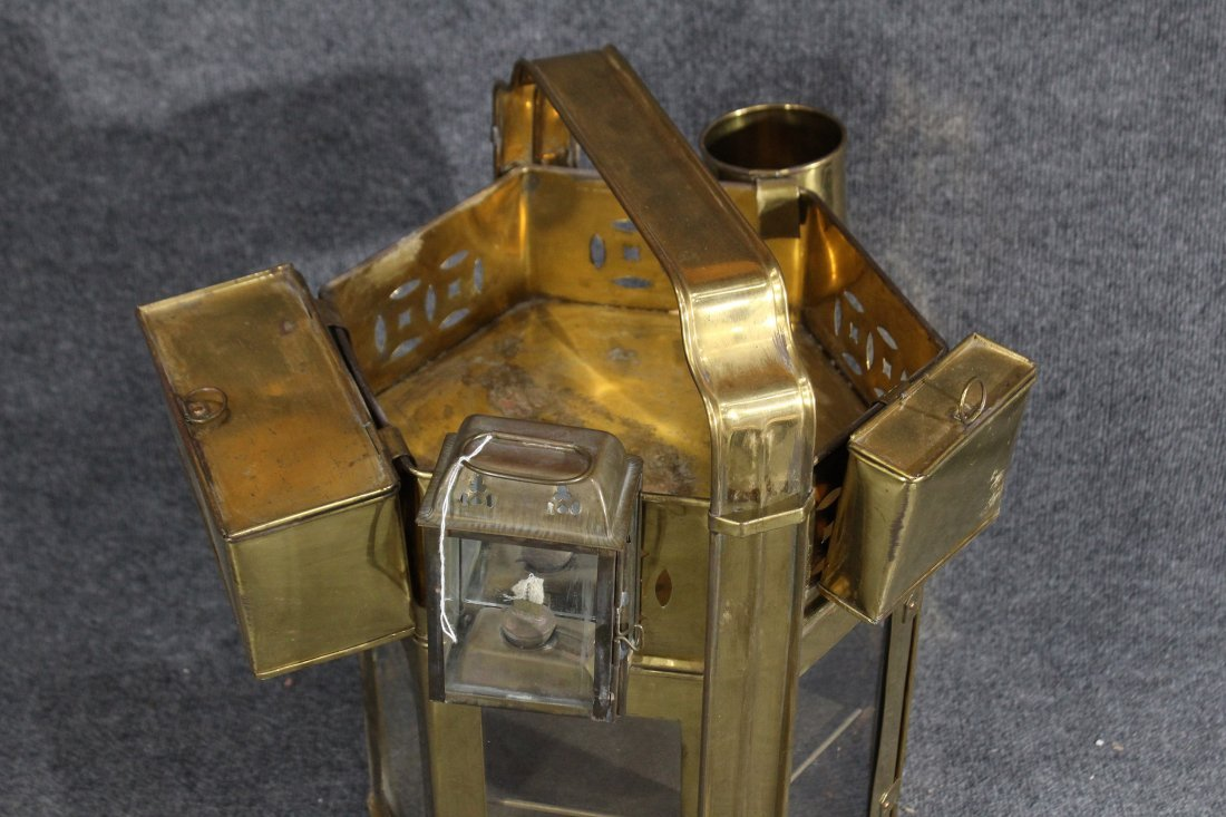Brass miner meal bucket with hanging containers - 2