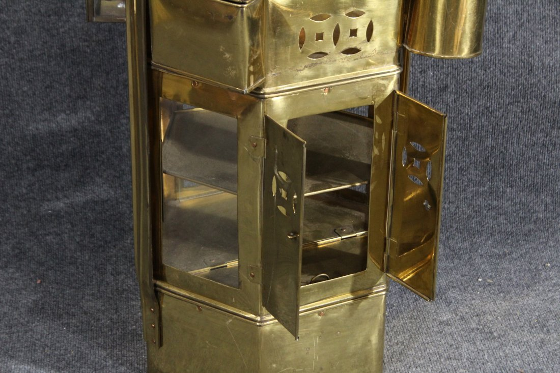 Brass miner meal bucket with hanging containers - 4
