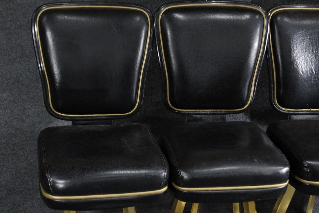 SET of 4 TRUMP PLAZA CASINO BLACKJACK BAR STOOLS - 5