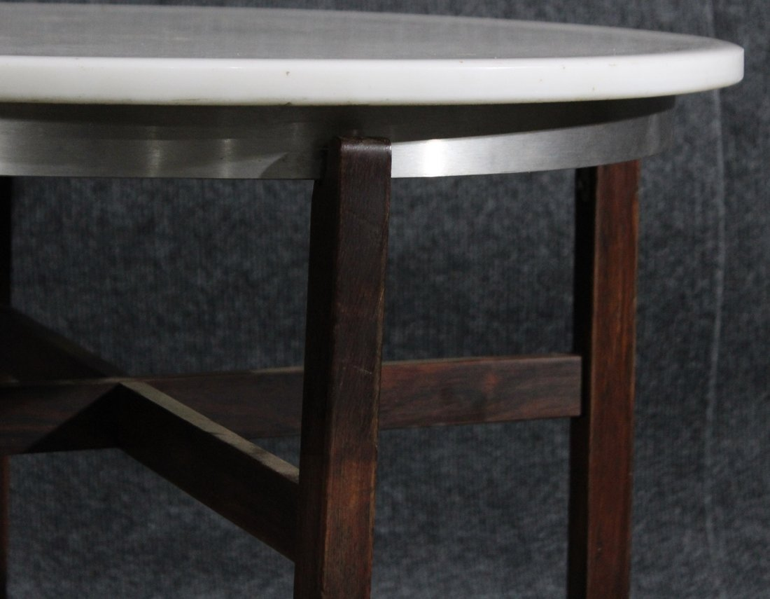 Mid-century danish modern marble top occasional table - 2