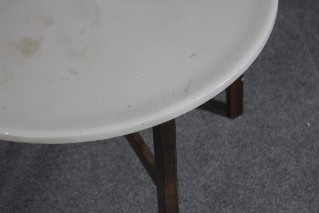 Mid-century danish modern marble top occasional table - 3