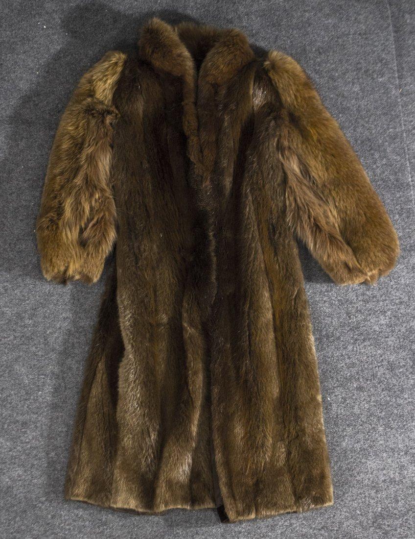 Long fur coat jacket Canadian, susan oiffi