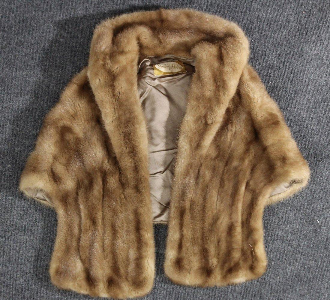 Fur over jacket vest , shrug