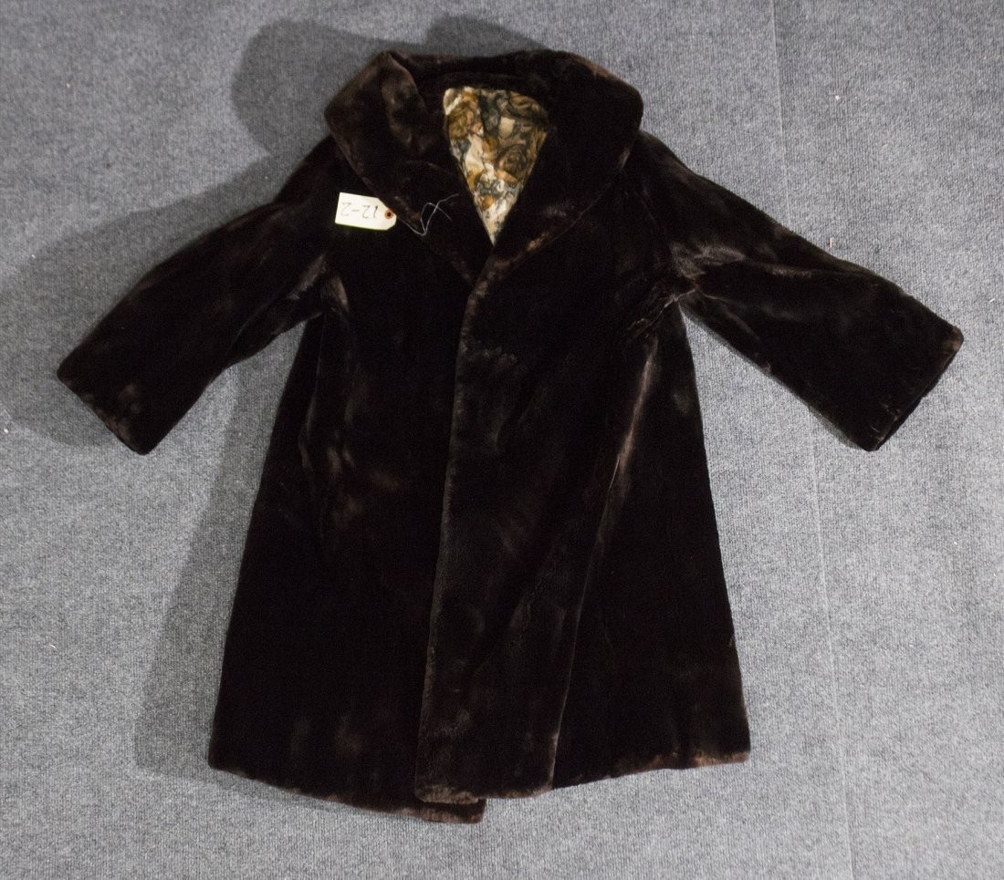 Fur over jacket coat Seal
