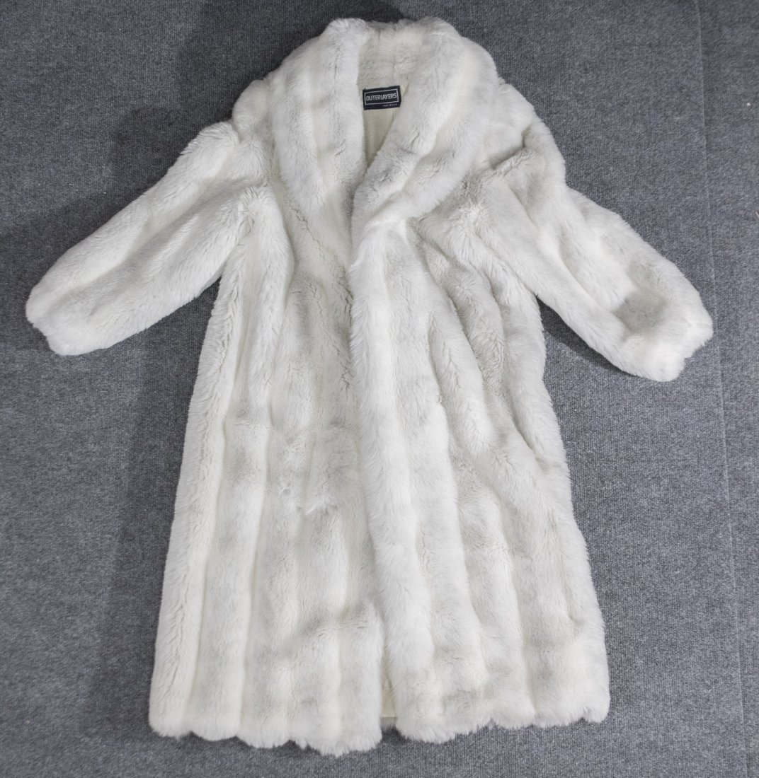 White fur coat by outerlayers