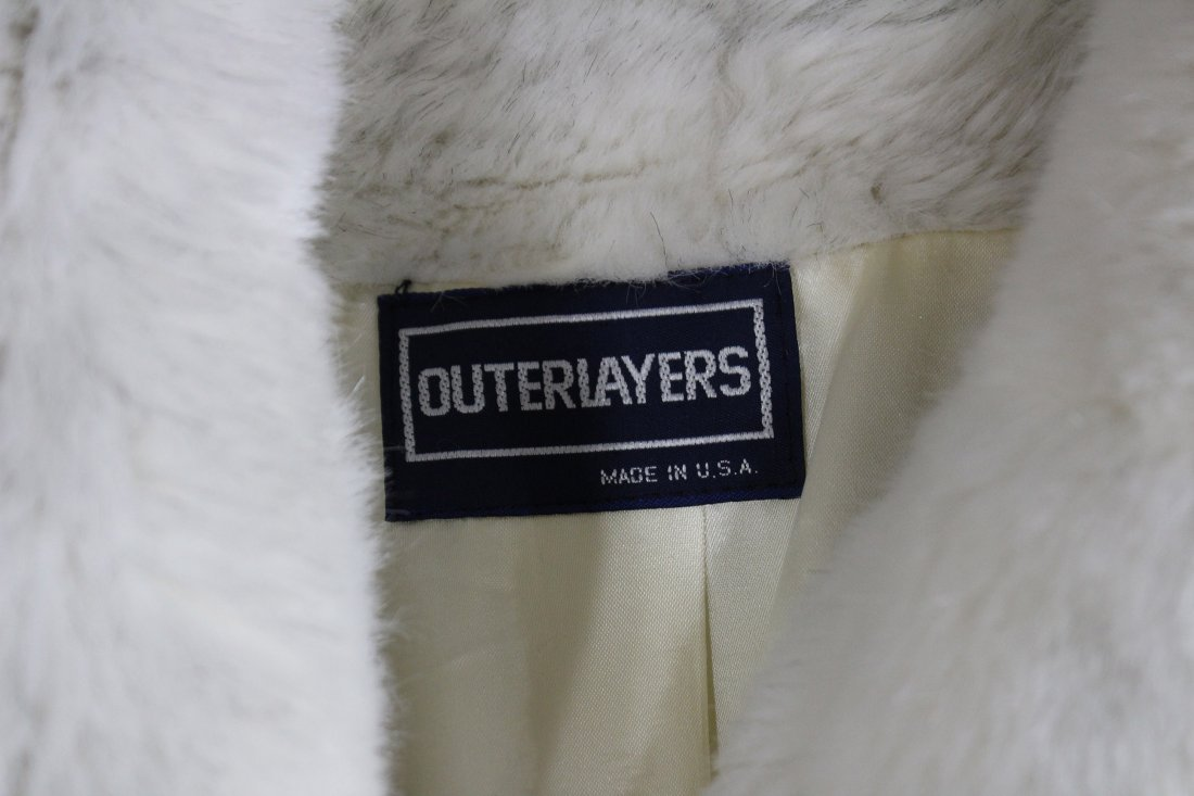 White fur coat by outerlayers - 3