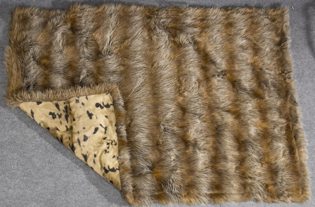 Fur through rug
