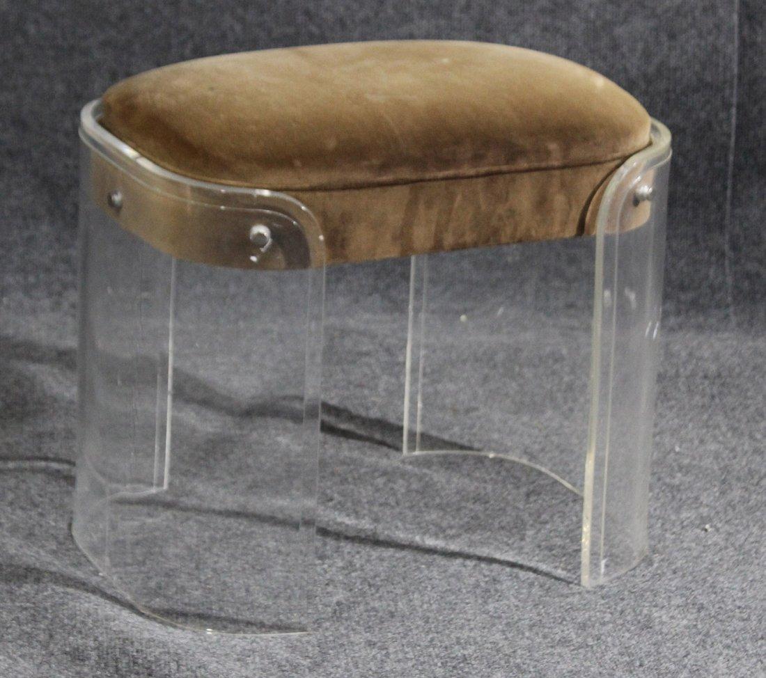 mid-century modern lucite stool