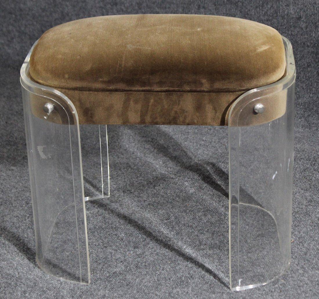mid-century modern lucite stool - 3