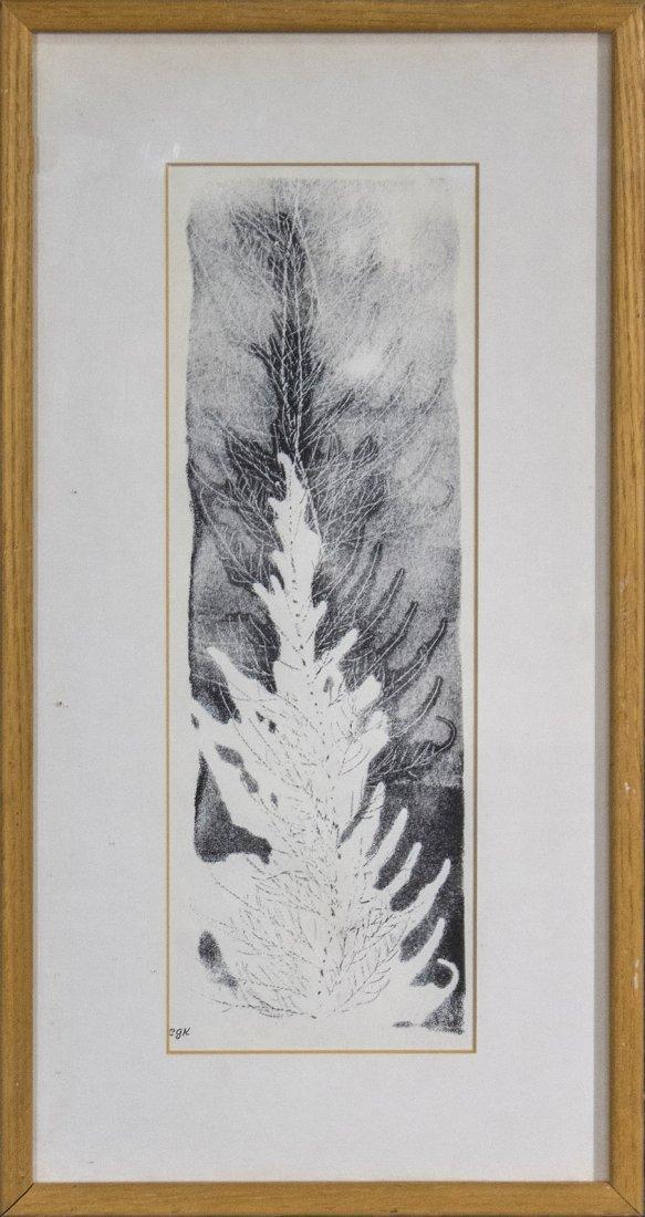 Clara Gee Rastnwe Monoprint leaf EGK