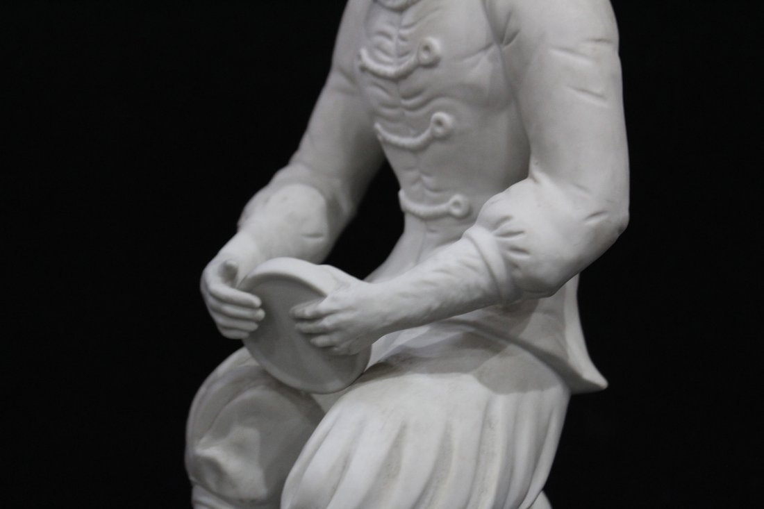 Pair 19th C. PARIAN JESTER MONKEY SEATED FIGURES 17 in. - 5