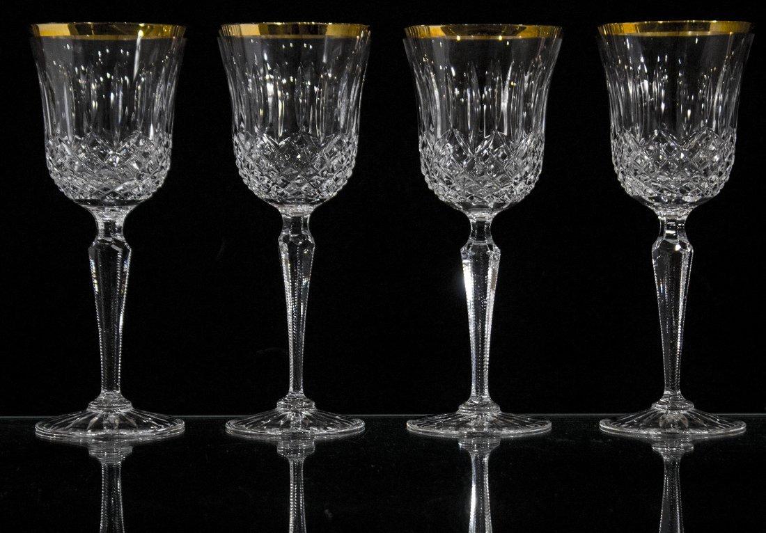 Set Four [4] WEDGEWOOD LISMORE DIAMOND WINE GLASSES