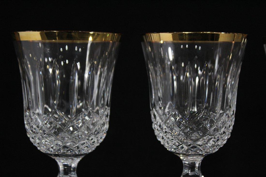 Set Four [4] WEDGEWOOD LISMORE DIAMOND WINE GLASSES - 2