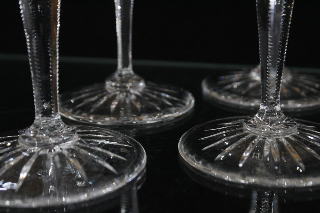 Set Four [4] WEDGEWOOD LISMORE DIAMOND WINE GLASSES - 4