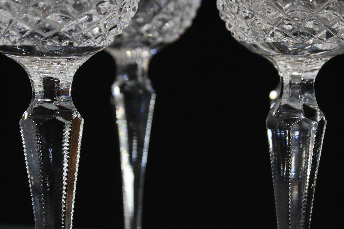 Set Four [4] WEDGEWOOD LISMORE DIAMOND WINE GLASSES - 5