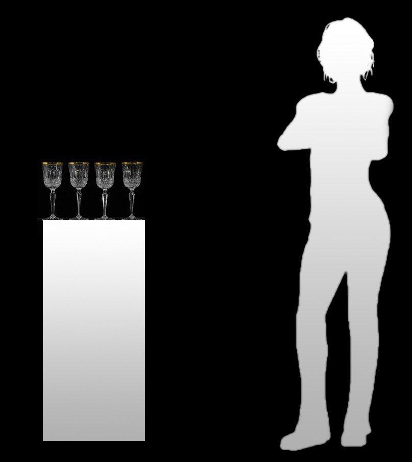 Set Four [4] WEDGEWOOD LISMORE DIAMOND WINE GLASSES - 8
