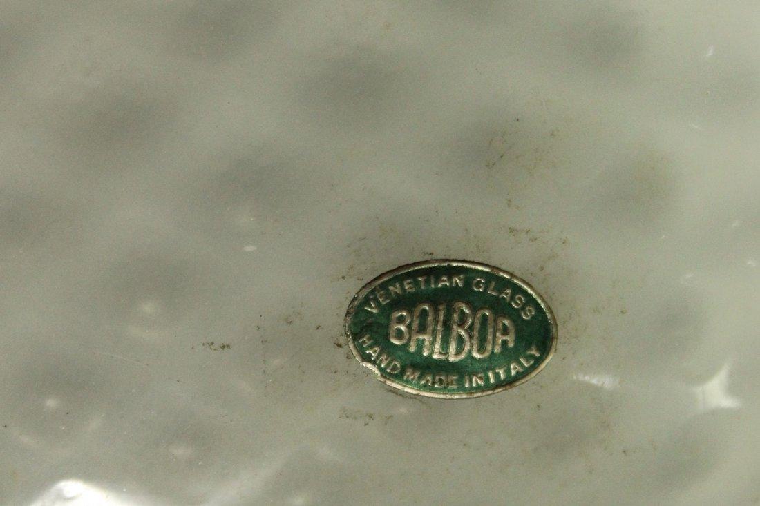 BALBOA Italian Diamond Quilt White ART GLASS LAMP SHADE - 3