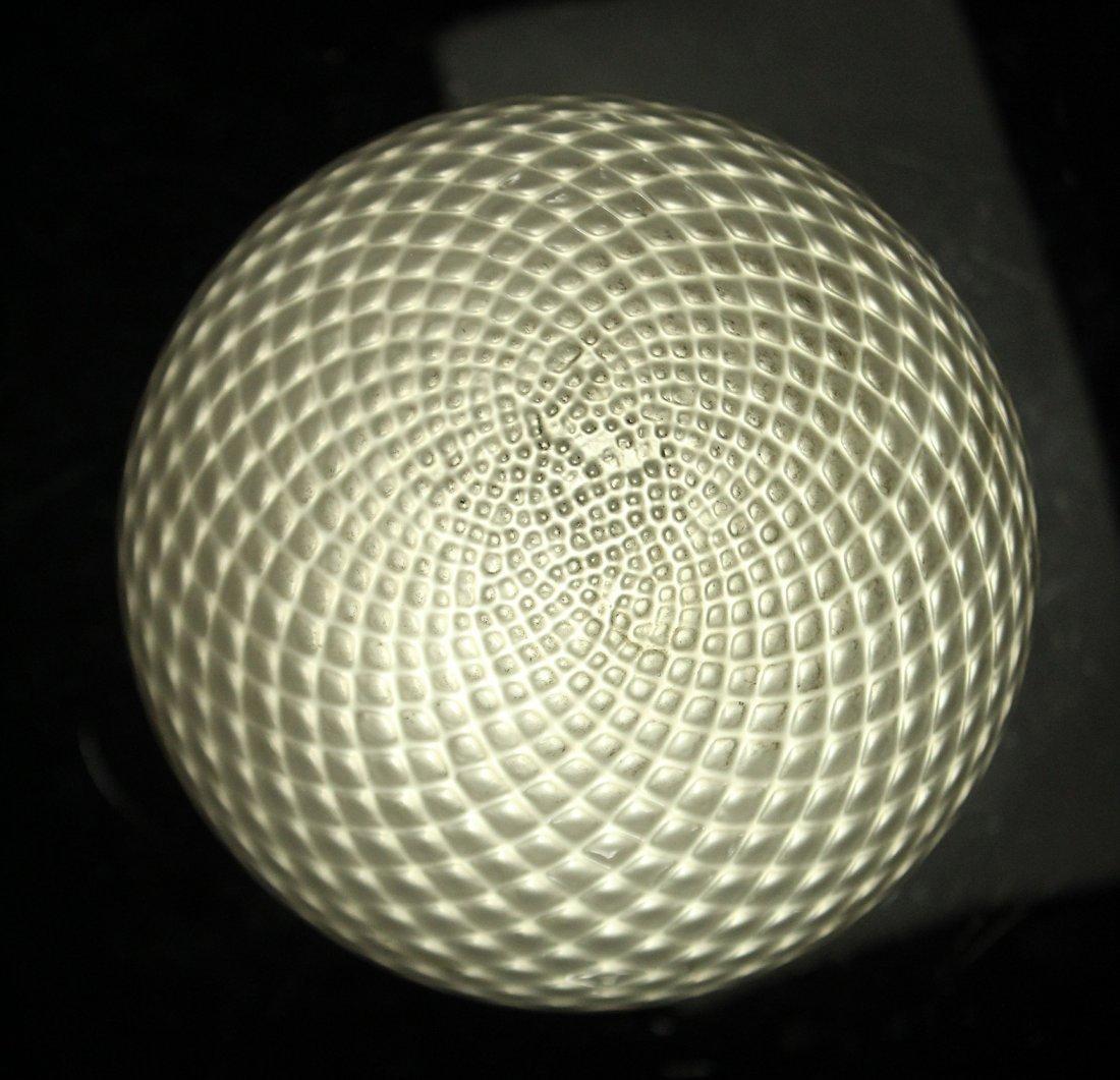 BALBOA Italian Diamond Quilt White ART GLASS LAMP SHADE - 5