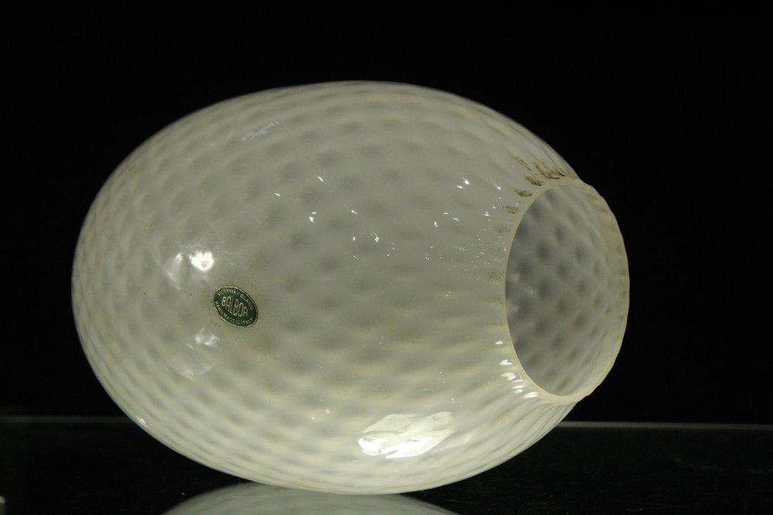 BALBOA Italian Diamond Quilt White ART GLASS LAMP SHADE - 6