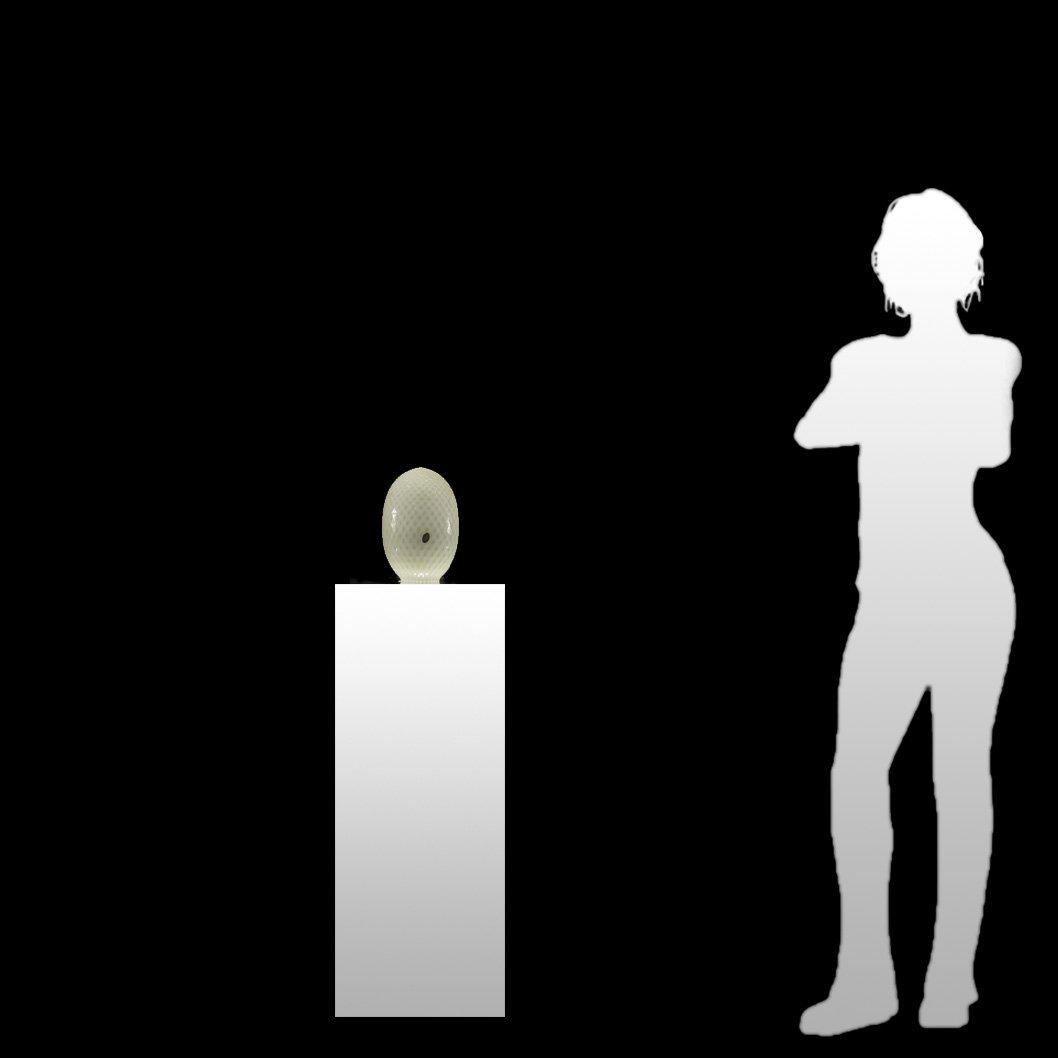 BALBOA Italian Diamond Quilt White ART GLASS LAMP SHADE - 8