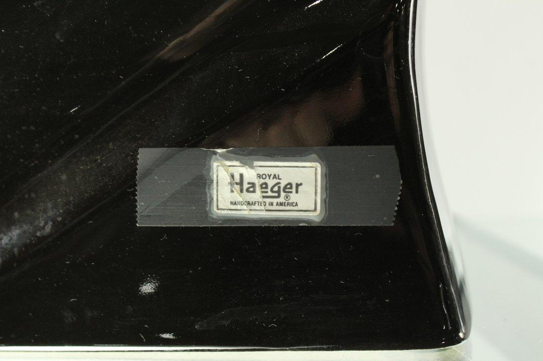 ROYAL HAEGER [2] BLACK CERAMIC HORSE HEAD FIGURES 14 in - 4