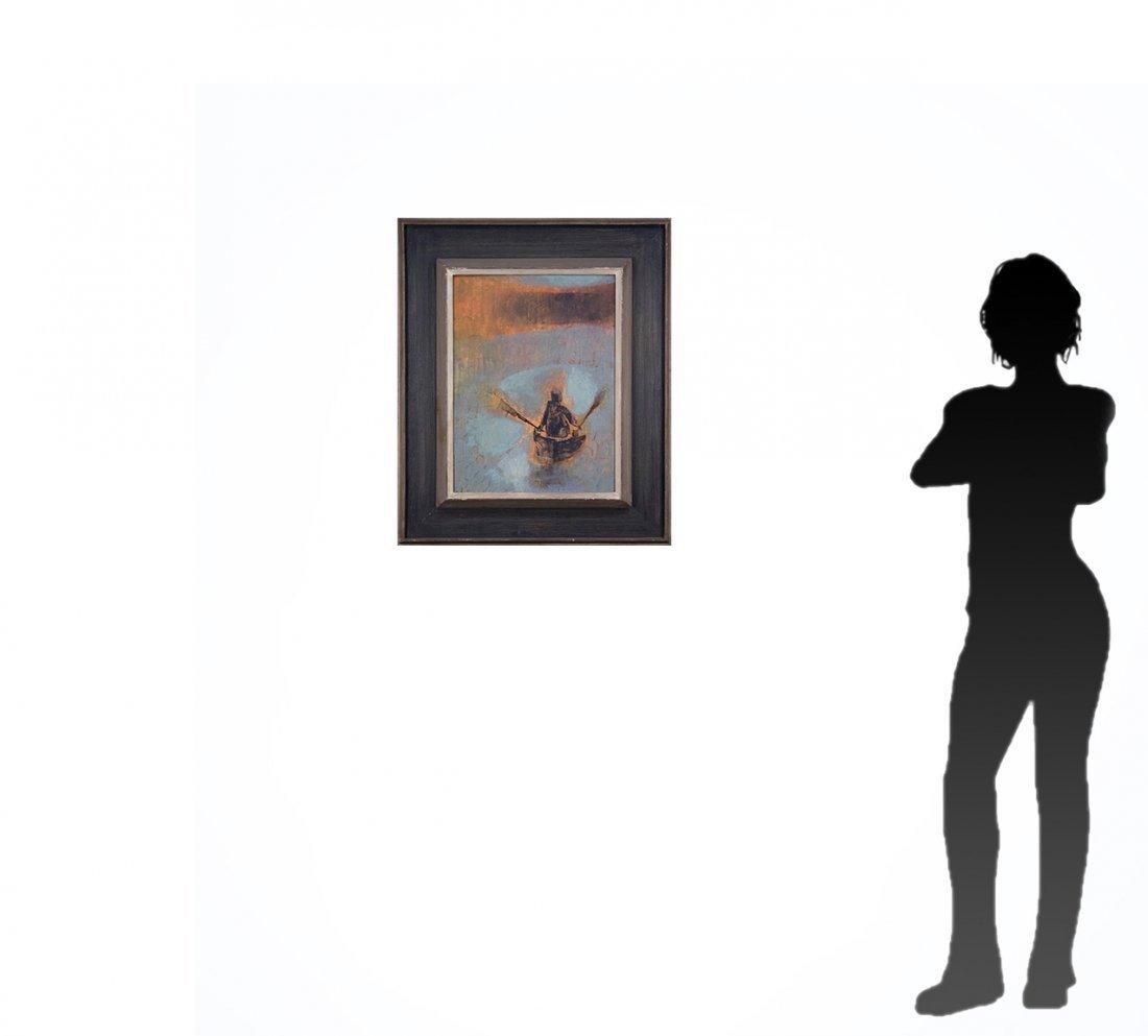 SI LEWEN Listed American Polish Artist OIL/b BOATMAN - 6
