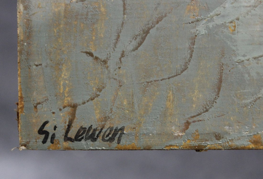 SI LEWEN Listed American Polish Artist OIL/b BOATMAN - 7
